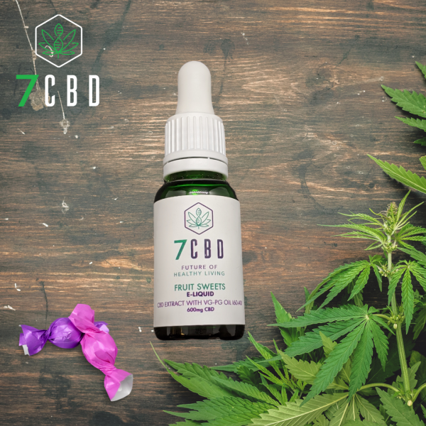 ELiquid tincture on a woodern table with and hemp leaves